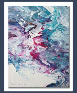 Fluid Painting auf Leinwand, 30 x 40 cm