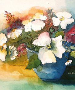 Aquarellbild Blumen
