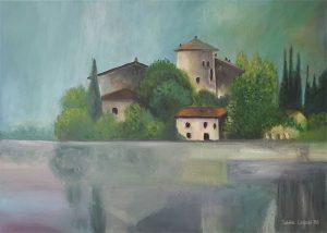 Acrylbild Castel Toblino Italien