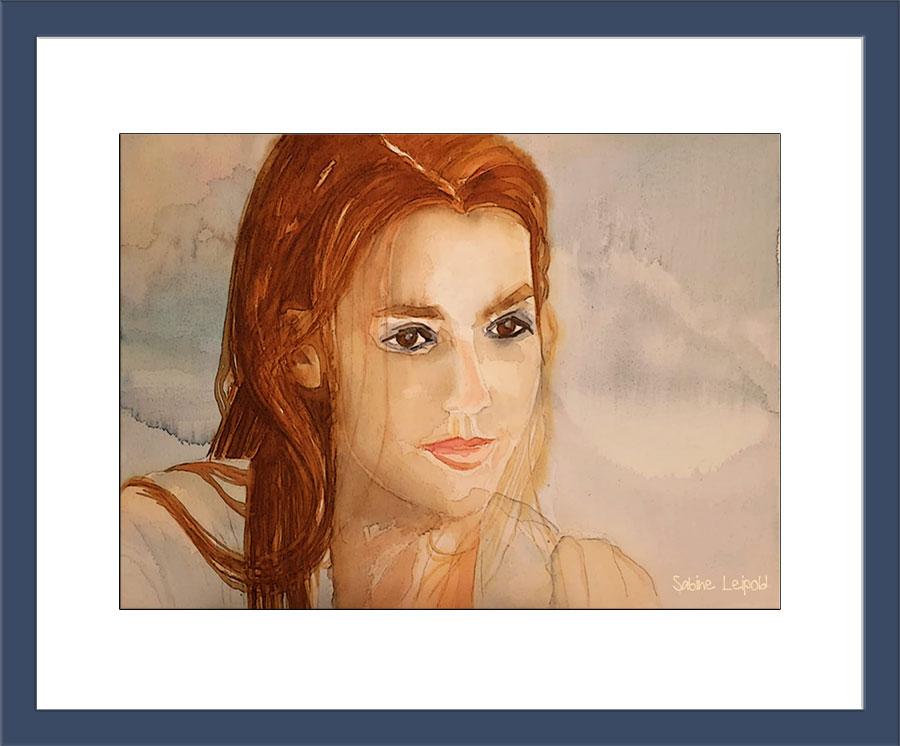 Aquarell ,Portrait, Kunst, Kurse, Sabine Leipold, Regensburg