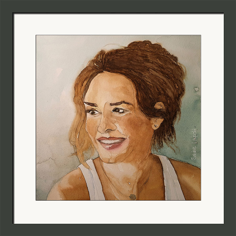Aquarell , Portrait, Kunst, Kurse, Sabine Leipold, Regensburg