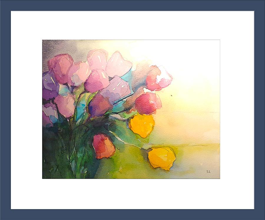 Aquarell ,Tulpen, Kunst, Kurse, Sabine Leipold, Regensburg