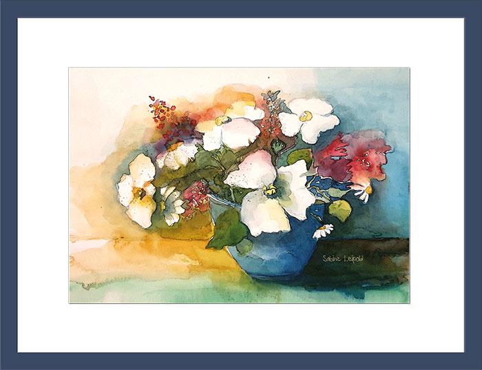 Blumenstrauß Aquarell Sabine Leipold