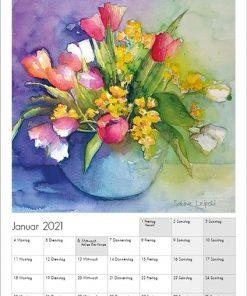 Sabine Leipold Kunstkalender Aquarelle 2021 Januar