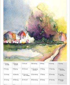 Sabine Leipold Kunstkalender Aquarelle 2021 November