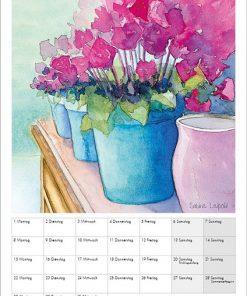 Sabine Leipold Kunstkalender Aquarelle 2021 März