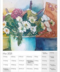 Sabine Leipold Kunstkalender Aquarelle 2021 Mai
