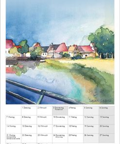 Sabine Leipold Kunstkalender Aquarelle 2021 Juni