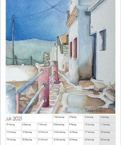 Sabine Leipold Kunstkalender Aquarelle 2021 Juli