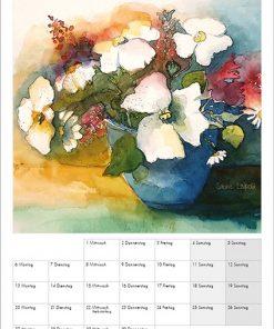 Sabine Leipold Kunstkalender Aquarelle 2021 September