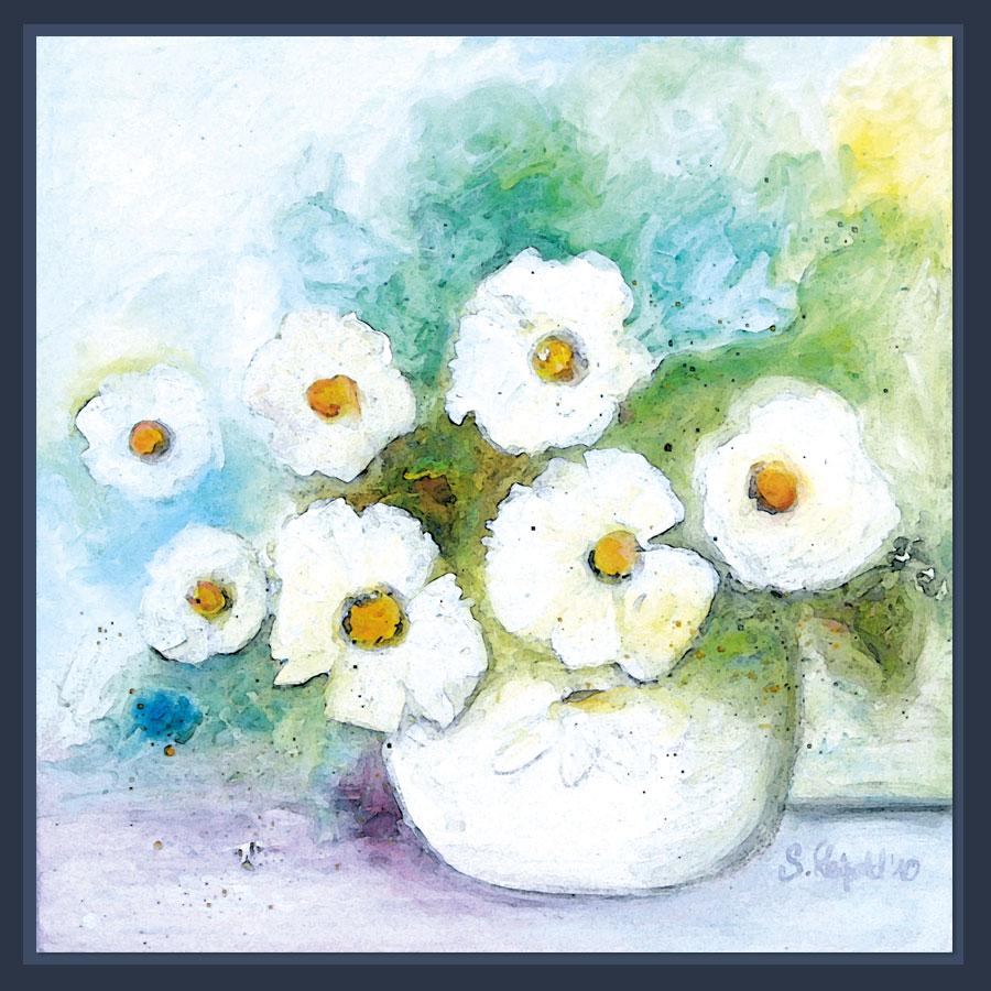 Blumenbilder Acryl auf Leinwand