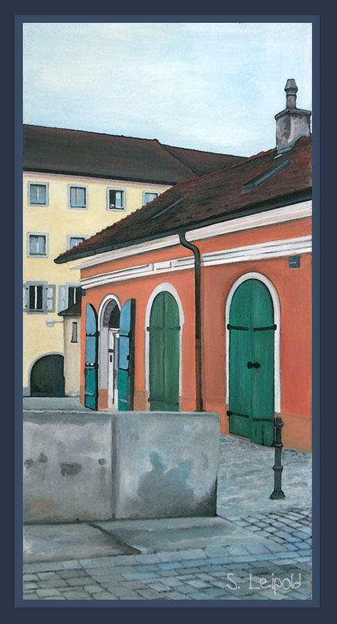 Acrylbild, Sabine Leipold, Regensburg, Stadtamhof