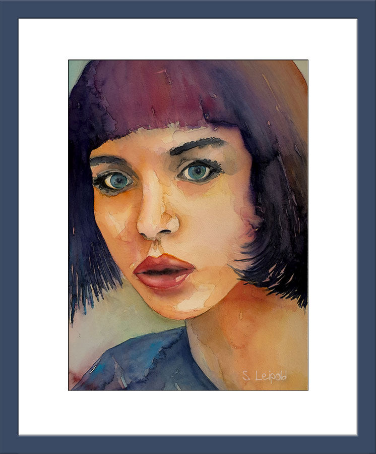 Sabine Leipold, Aquarelle, Aquarellkunst, Portrait