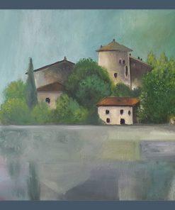 Acrylbild Torblino Italien, Originalbild, Sabine Leipold